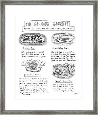 Painstakin' Peas Framed Print by Roz Chast