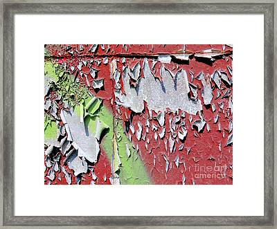 Paint Abstract Framed Print by Ed Weidman