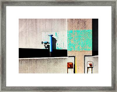 Paint And Pipe Abstract Industrial Decay Series No 003 Framed Print by Design Turnpike