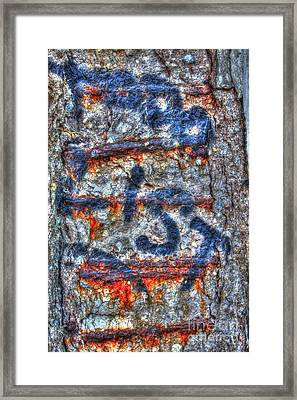 Paint And Rust 25 Framed Print by Jim Wright