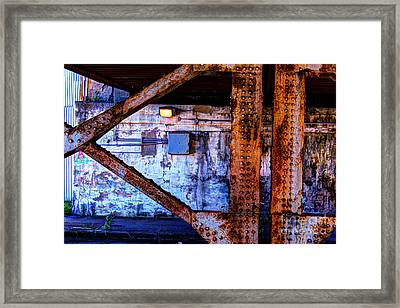 Paint And Rust 28 Framed Print by Jim Wright
