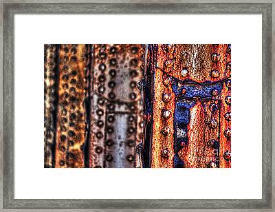 Paint And Rust 29 Framed Print by Jim Wright