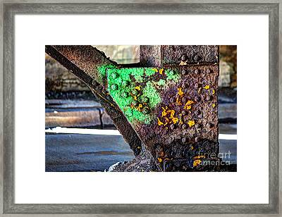 Paint And Rust 32 Framed Print by Jim Wright