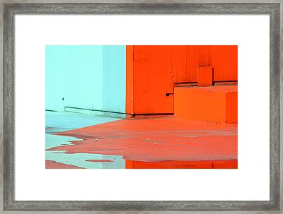 Paint And Water ..reflection ... Framed Print by A Rey