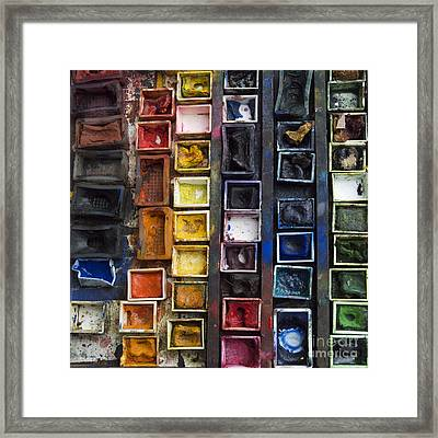 Paint Box Framed Print