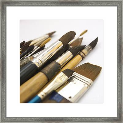 Paint Brushes Framed Print by Bernard Jaubert