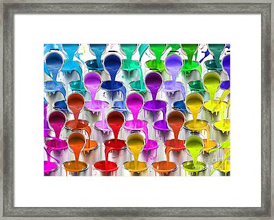 Paint Bucket Waterfall Framed Print