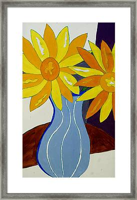 Paint By Number Framed Print by Lola Connelly