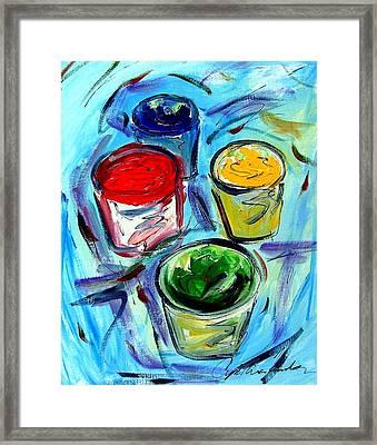 Paint Framed Print by Cynthia Hudson