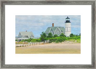 Paint D - Cape Cod 01 Framed Print