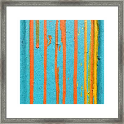 Paint Drips Framed Print