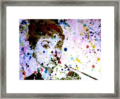 Framed Print featuring the digital art Paint Drops by Brian Reaves
