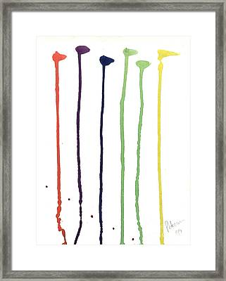 Paint Drops  Framed Print by Cathy Peterson
