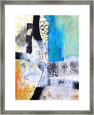 Paint Improv 9 Framed Print by Jane Davies