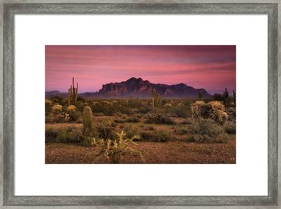 Paint It Pink Sunset  Framed Print by Saija  Lehtonen