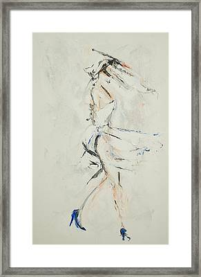 Paint My Toes And Twirl Framed Print by Chelsea Davidson