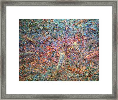 Paint Number 37 Framed Print by James W Johnson