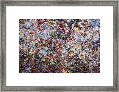 Paint Number 42 Framed Print by James W Johnson