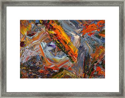 Paint Number 44 Framed Print by James W Johnson