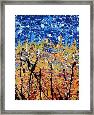 Paint Number Fifteen Framed Print