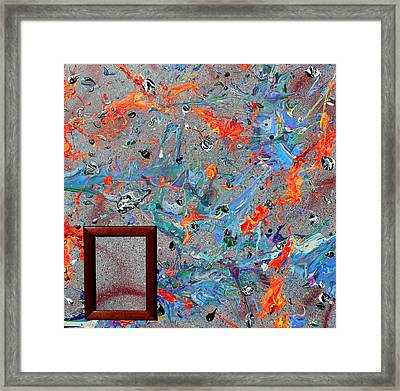 Paint Number Forty Framed Print