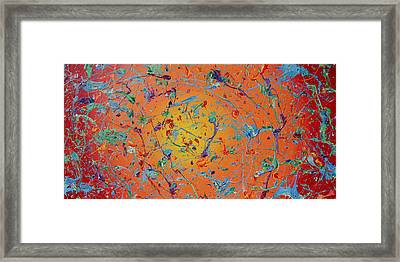 Paint Number Thirty Seven Framed Print