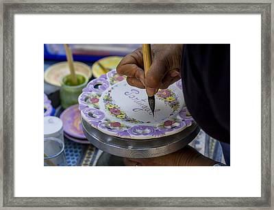Paint On Plates Framed Print