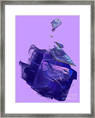 Paint On The Glitter Framed Print