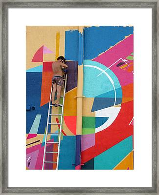 Paint Out Framed Print by Rosie Brown