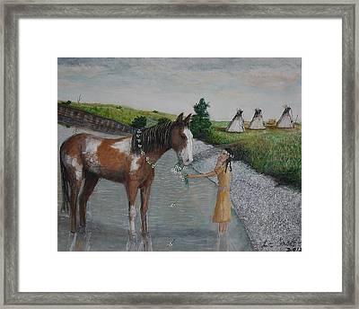 Paint Pony Original For Sale Framed Print