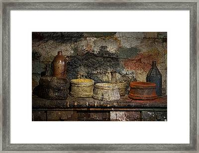 Paint Pots Framed Print by Inge Riis McDonald