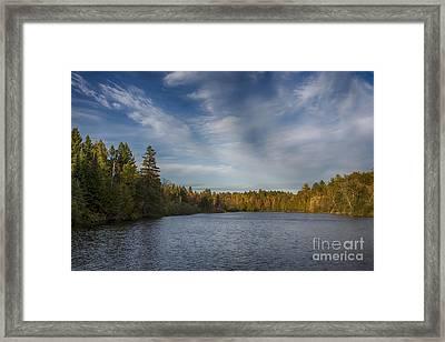 Paint River - Autumn Framed Print
