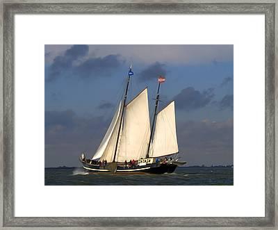 Paint Sail Framed Print