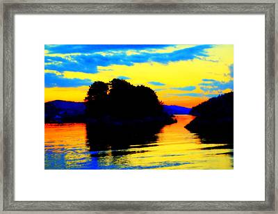 Painting The High Sky And The Deep Sea  Framed Print