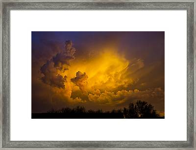 Paint The Sky In Shades Of Gold  Framed Print