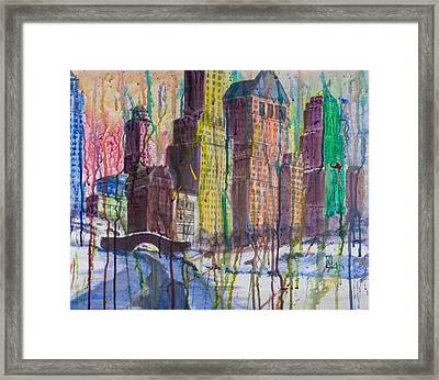 The Crying City Framed Print