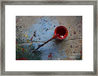 Paint The Town Red Framed Print by Nola Lee Kelsey