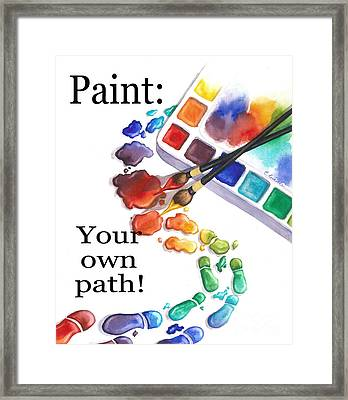 Paint You Path Framed Print
