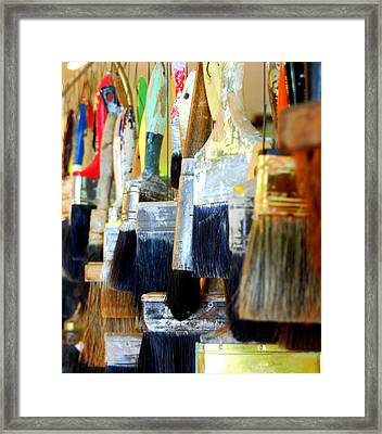 Paintbrush Collection Framed Print by Mamie Gunning