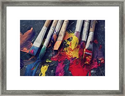 Paintbrushes  Framed Print by Bella  Harris