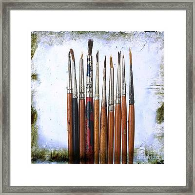 Paintbrushes Framed Print by Bernard Jaubert