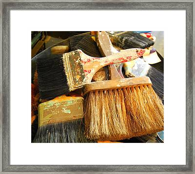 Paintbrushes Framed Print by Mamie Gunning
