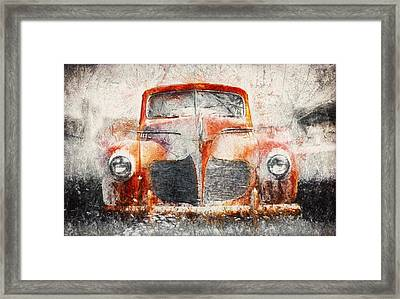 Painted 1940 Desoto Deluxe Framed Print by Scott Norris