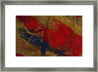 Painted And Etched Brass Framed Print by Constance Krejci