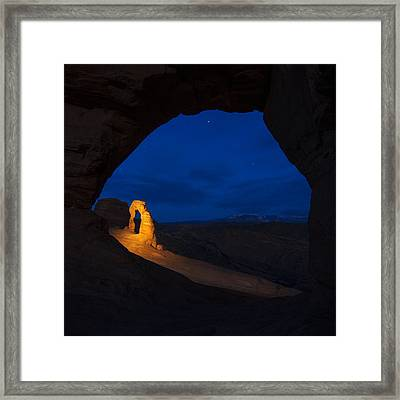 Painted Arch Framed Print