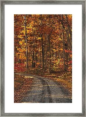 Painted Autumn Country Roads Framed Print
