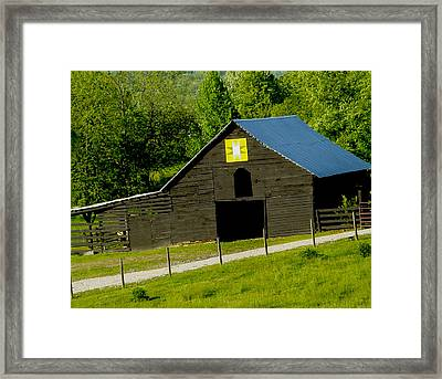 Painted Barn Quilt Two Framed Print by Robert J Andler