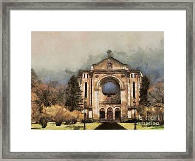 Painted Basilica Framed Print by Teresa Zieba