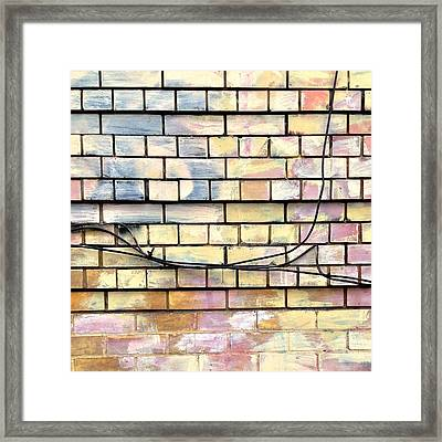 Painted Brick Framed Print