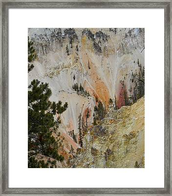 Framed Print featuring the photograph Painted Canyon At Lower Falls by Michele Myers